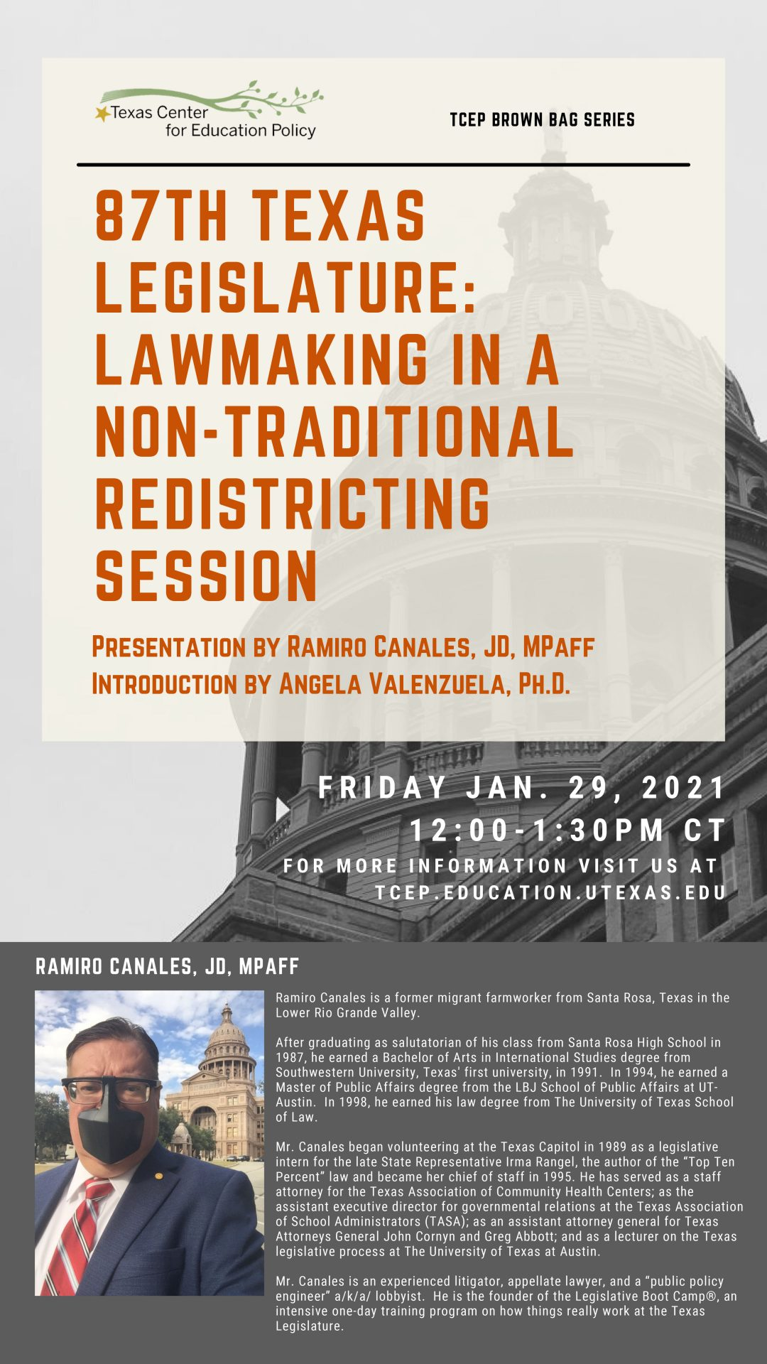 Lawmaking in a non-traditional redistricting session promo Image, Info provided in post